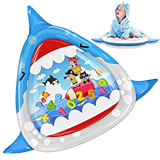 HIGBRE Baby Toy Inflatable Baby Water Mat Water Play Mat Tummy Time for 3 6 9 Months