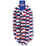 Beistle 66367-4PK 48-Pack Soft-Twist Patriotic Poly Leis Party Decor, 2-Inch by 36-Inch
