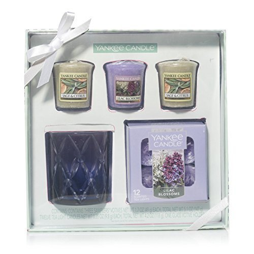 Yankee Candle Radiant Candle Gift Set, Lilac Blossoms and Sage & Citrus