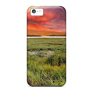 Durable Meadow Sunset Back Case/cover For Iphone 5c