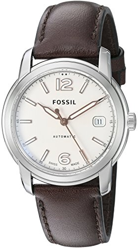 Fossil FSW1004 Swiss FS-5 Series Automatic Leather Watch - Brown
