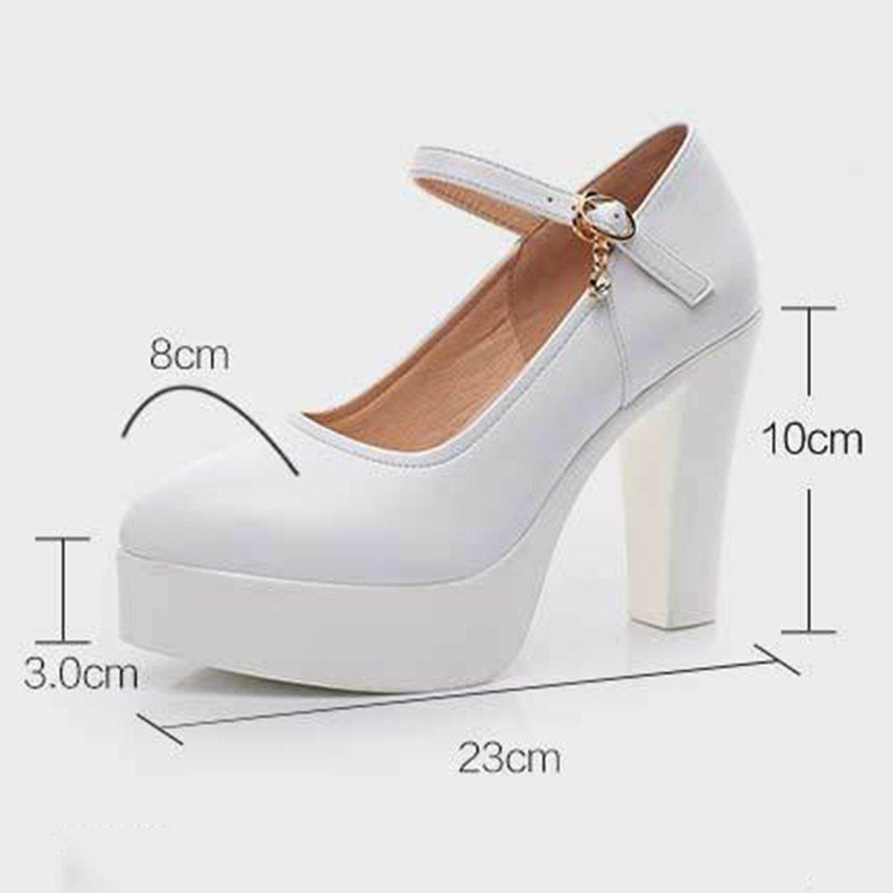YR-R Frauen Mary Jane Dicke Schuhe Plattform High Heel Dicke Jane Heels Ankle Stracks Zehe Pumps Für Damen Offiziellen Licht Gericht Schuhe schwarz 9afef0