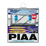 PIAA 18880 880 Xtreme White Plus High Performance Halogen Bulb, (Pack of 2)