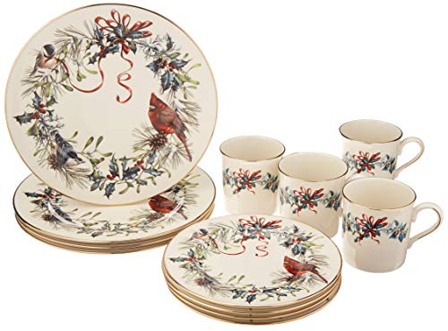 Lenox Winter Greetings 12 Piece - Bowl Ivory Banded Serving China