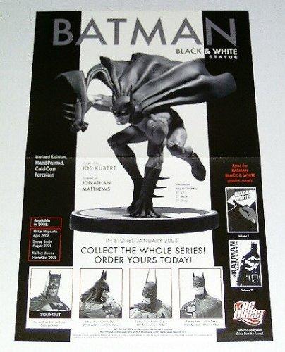 Batman Black and White Dc Direct Statue Comics Shop Promo Poster: Designed by Joe