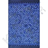 Rayon Sarong Flower Field Blue