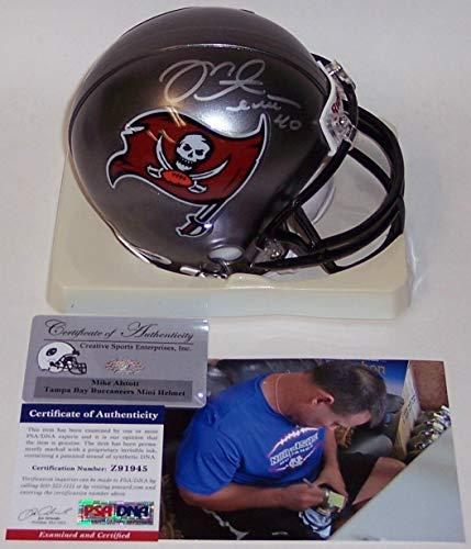 Mike Alstott Autographed Hand Signed Tampa Bay Bucs Mini Football Helmet - (Autographed Football Helmet)
