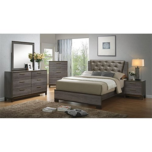 Queen Bedroom Furniture Set - Furniture of America Charlsie 4 Piece Queen Bedroom Set
