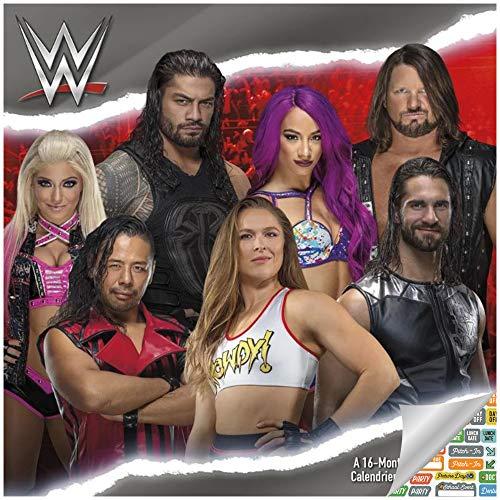 WWE Calendar 2020 Set - Deluxe 2020 WWE Wall Calendar with Over 100 Calendar Stickers (WWE Gifts, Office Supplies)