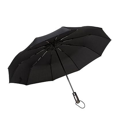 Vi.yo Paraguas plegable totalmente automático hombre fuerte fuerte grandes paraguas irrompibles de viaje pesado