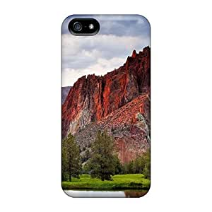 Iphone High Quality Case/ Beautiful Mountain By A Pond BaJTypP3893ebXiz Case Cover For Iphone 5/5s