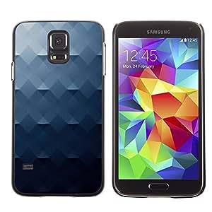 [Neutron-Star] Snap-on Series Teléfono Carcasa Funda Case Caso para Samsung Galaxy S5 [Cepillado modelo del metal gris azul]
