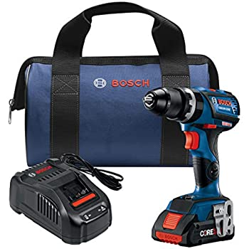 Image of Bosch GSB18V-535CB15 18V EC Brushless Connected-Ready Compact Tough 1/2 In. Hammer Drill/Driver with (1) CORE18V 4.0 Ah Compact Battery Home Improvements