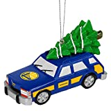Forever Collectibles Golden State Warriors Official NBA Holiday Christmas Ornament Station Wagon With Tree by 546375