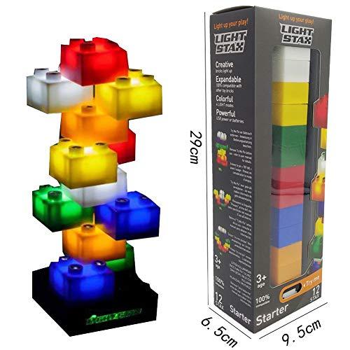 Light Stax LED Building Blocks Starter Set (12 Pieces)