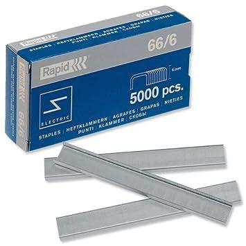 Rapid 66/6 Paquete de - Grapa (Paquete de grapas, 6 mm, 5000 ...