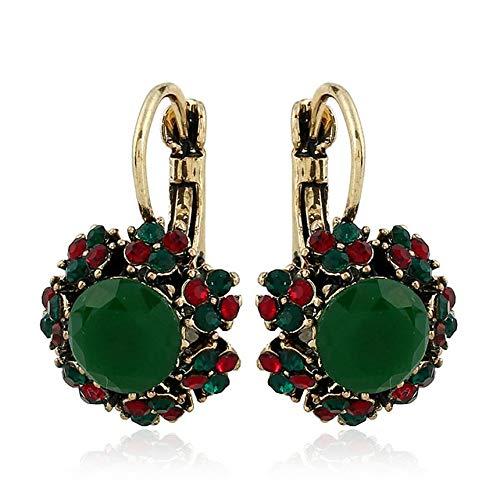 Licini Colorful Crystal Stud Earrings Resin Dangle Drop Earrings Personality Creative Girls Fashion Stud Earrings
