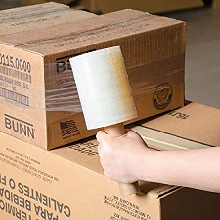 5 x 1000 Roll 80 Gauge Thick Clear Film Moving Supplies Mini Stretch Packing Wrap with Handle for Pallet Wrap Industrial Strength 1 Pack