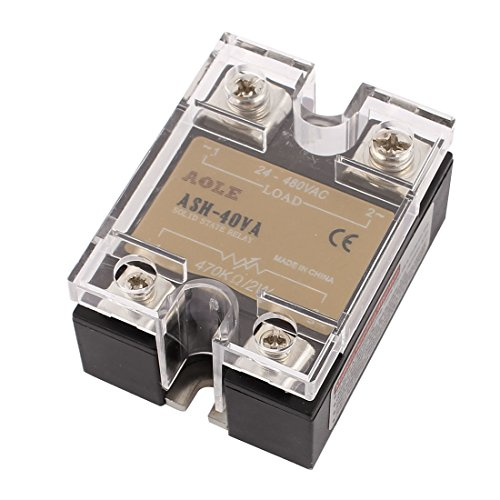 uxcell ASH-40VA 470Kohm 2W to 480VAC 40A Single Phase Solid State Relay Resistance Voltage Regulator Authorized
