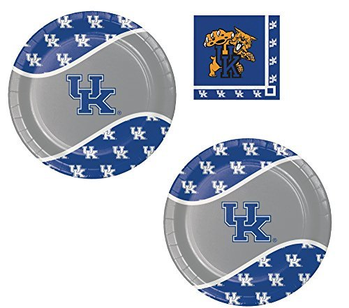 University of Kentucky Plate and Beverage Bundle: 16 Dinner Plates And 20 Beverage Napkins