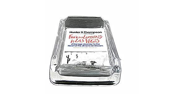 Thompson Fear And Loathing Glass Square Ashtray D-054 Hunter S