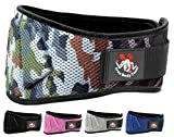 Iron Body Team Fully Adjustable Weightlifting Belt | Thick Lower Back & Core 6 inch Support for Men & Women | (Camo, XS)