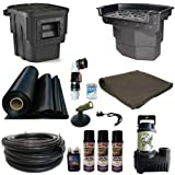 Half Off Ponds' LA0 - 20 ft x 30 ft Large Atlantic Pond Kit w/ 5,500 GPH Pump, Big Bahama 26 Inch Waterfall, & Oasis Skimmer