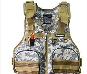 Fishing life jacket fishing vest vest pocket for Fishing vest amazon