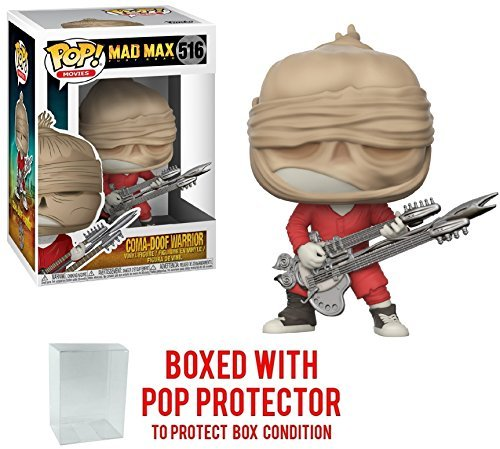 Funko Pop! Movies: Mad Max Fury Road - Coma-Doof Warrior Vinyl Figure (Bundled with Pop BOX PROTECTOR CASE) (Max Mad Figurine)