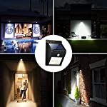 HAPPENWELL Solar Powered Wireless Waterproof 20 LED Bright Outdoor Security Might Spotlights with Motion Sensor for…