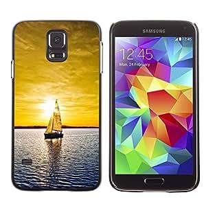 Caucho caso de Shell duro de la cubierta de accesorios de protección BY RAYDREAMMM - Samsung Galaxy S5 - Soleado Mar Yate