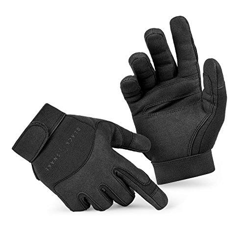 BlackSnake® Tactical Army Gloves Herrenhandschuhe aus hochwertigem Spezialkunstleder Schwarz L