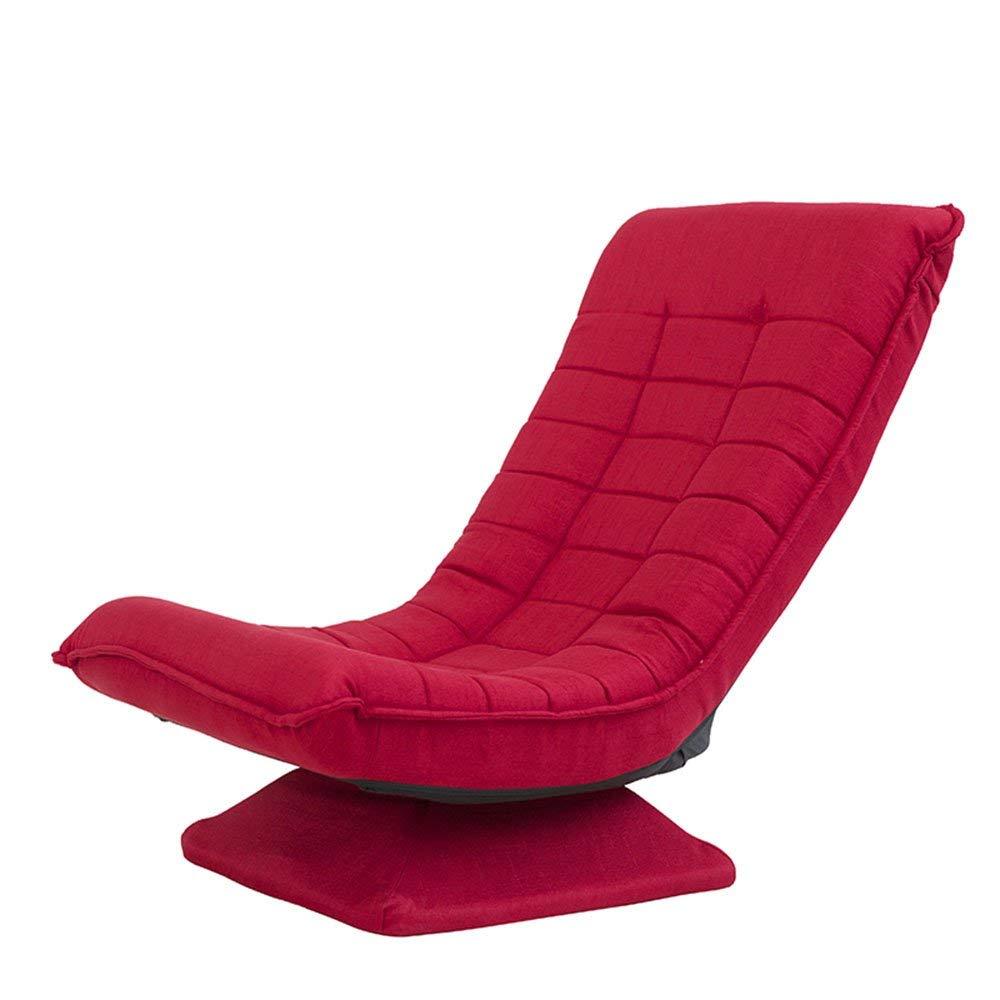 サンラウンジャー360度回転折りたたみ式ビデオゲームチェアフロアレイジーマンレッド/ベージュ/ブルー/ブラウン (Color : Red) B07T8P696B Red