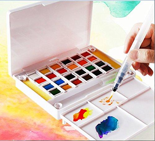 /meno spazio meno costi Great Travel Pocket kit. /24/colori assortiti con spazzola/ /perfetto per dipinti ad acquerello /& Cartoons/ /Kid friendly/ Artify acquerello campo sketch set/