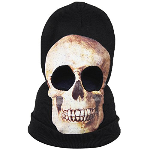 Brush With Death Costume (Abuyall Halloween Hat Scary Skeleton Skull Cap Ghost Death Cosplay Mask Pt1)