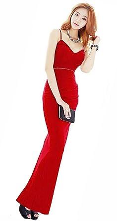 efe4b0072500e KimBerley ラインストーン ロングドレス ワンピース ドレスライン キャバドレス ナイトドレス キャバ嬢 ファッション 赤