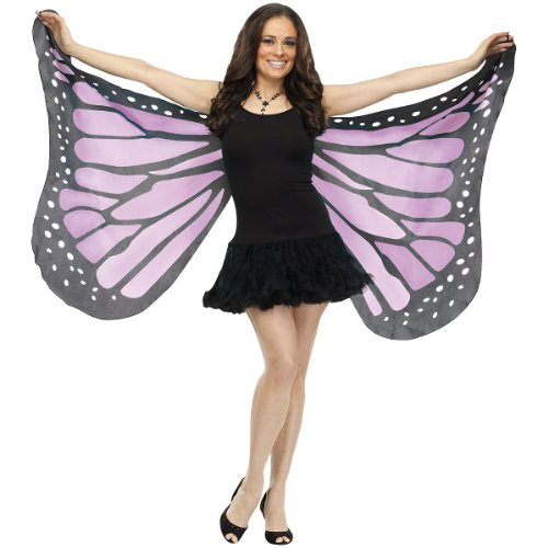 Soft Butterfly Wings Costume Accessory,Purple, (Cute Easy Halloween Costumes For Adults)