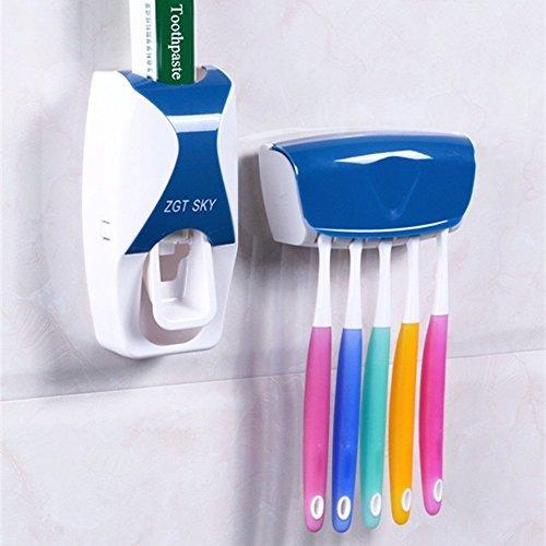 19 opinioni per JVJ Distributore Dentifricio Automatico + Pratico Portaspazzolino--blu