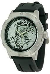 Ed Hardy Men's MX-BK Matrix Black Watch