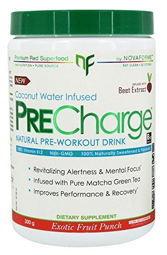 - NovaForme PreCharge Natural Pre-Workout Drink Exotic Fruit Punch 300 g