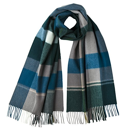 Johnstons Of Elgin - Pure Cashmere - Large Scarf (Peackock (Johnstons Cashmere)
