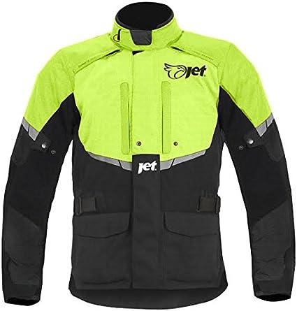 JET Motorcycle Motorbike Jacket Mens Textile Waterproof CE Armoured Tourer/ Orange, 3XL 46-48