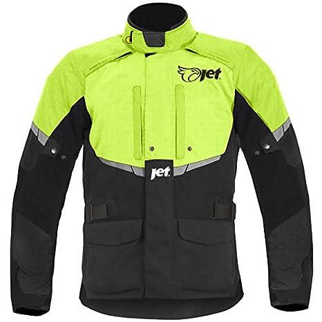 JET Blouson Veste Moto Homme Imperm/éable avec Armure Textile Tourer Noir//Fluro, 7XL EU 64-66