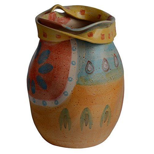 Modigliani Italian Dinnerware - Round Vase with Ribbon - Handmade in Italy from Our Campo de Fiori Collection