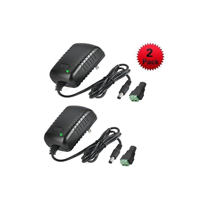 2 Pcs AC Adapter, YIFENG 12V-2A Switchin