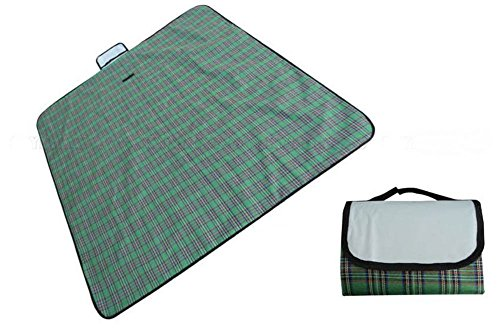 Waterproof 79''x59'' Outdoor Beach Camping Picnic Moistureproof Mat Blanket New (Green) by Unknown