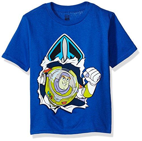 Disney Little Boys' Toddler Buzz Lightyear T-Shirt, Royal, 5T (Baby Buzz Lightyear)