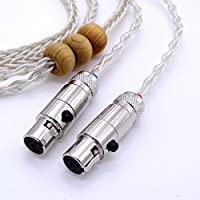 1.2m (4ft) 8 core Litz braid 5N OCC Silver plated Headphone Upgrade Cable for Audeze LCD-2 LCD-3 LCD-4 LCD-X LCD-XC