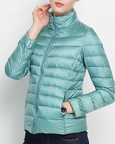 Parka Manteau Longues Bleu Veste Pink Manches Femme Légère Blouson Doudoune Pour Hiver wf1CZxq