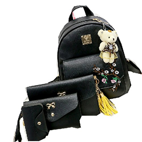 PLCMJKJ Brief Picture Package Three Pieces Pu Leather Backpa